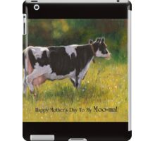 Mother's Day Card with Cow, Humor, To My Moo-ma iPad Case/Skin