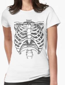 Skeleton Ribcage  Womens Fitted T-Shirt