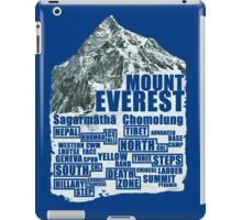 Mount Everest - Routes iPad Case/Skin