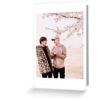 Jackson and BamBam blossom tree Greeting Card