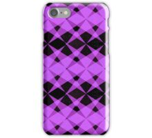 Black and purple stars pattern iPhone Case/Skin