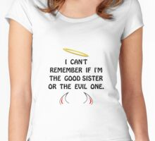 Good Evil Sister Women's Fitted Scoop T-Shirt