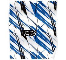 fox white stripes Poster