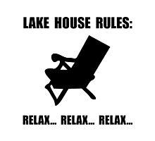 Lake House Rules Photographic Print