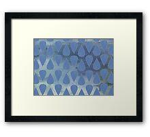 Cerulean City (Pattern) Framed Print