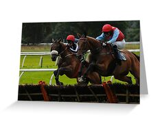 National Hunt Horse Racing Greeting Card