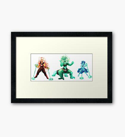 Malachite Fusion Framed Print