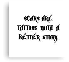 Scar Tattoos Canvas Print