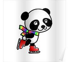 Skating Panda Poster