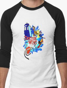 Adventure Time Tardis dr Who  Men's Baseball ¾ T-Shirt