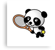 Tennis Panda Canvas Print