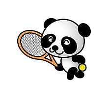 Tennis Panda Photographic Print