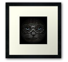 Sulky Steampunk Moggie with Goggles and Attitude Framed Print
