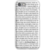 Jet Black Heart Lyrics iPhone Case/Skin