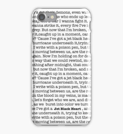Jet Black Heart Lyrics iPhone Case/Skin