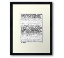 Jet Black Heart Lyrics Framed Print