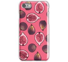 Fig Fruit Pattern Pink iPhone Case/Skin