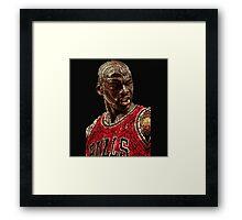 Basketball Michael Jordan Chicago Bulls Framed Print