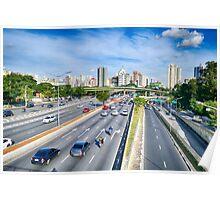 Av. 23 de maio - São Paulo, Brazil Poster