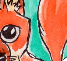 Woodland Googly Fox Sticker
