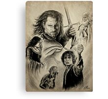 The King's battle Canvas Print