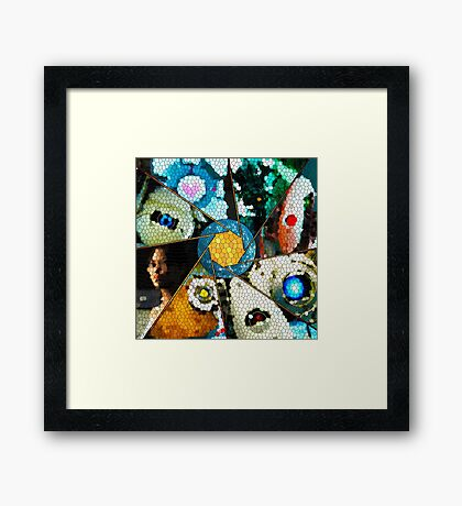 Portal 2 - Stained Glass Framed Print