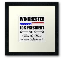 Supernatural SPN 2016 Election Parody Framed Print