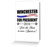 Supernatural SPN 2016 Election Parody Greeting Card