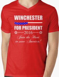 Supernatural SPN 2016 Election Parody Mens V-Neck T-Shirt