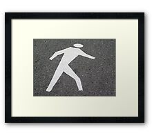 The Pedestrian Framed Print