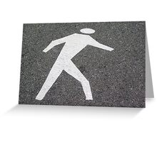 The Pedestrian Greeting Card