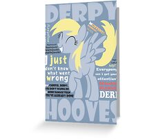 The Words of Derpy Greeting Card