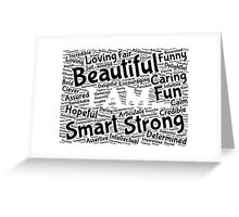 I AM... - typography Greeting Card
