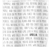 Ophelia - The Lumineers Poster