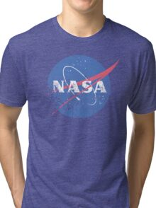 Distressed Nasa Logo Tri-blend T-Shirt
