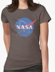 Distressed Nasa Logo Womens Fitted T-Shirt