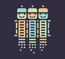 Acorn Rocket Bots Multi Unisex T-Shirt