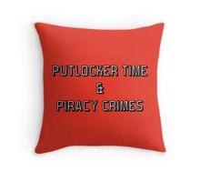 Putlocker Time & Piracy Crimes (Netflix & Chill Parody) Throw Pillow