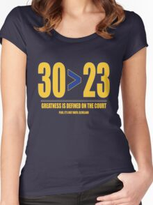 30 > 23 | Curry > James Women's Fitted Scoop T-Shirt