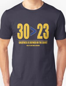 30 > 23 | Curry > James Unisex T-Shirt