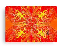 Red Flower Abstract Canvas Print
