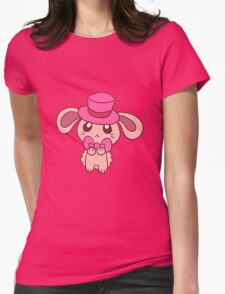 Tophat Bunny Womens Fitted T-Shirt