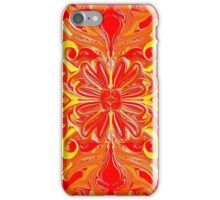 Red Flower Abstract iPhone Case/Skin