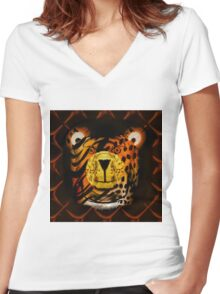 Kindly Tiger Women's Fitted V-Neck T-Shirt
