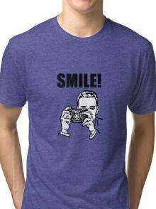 Vintage Camera Smile Tri-blend T-Shirt