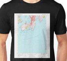 USGS TOPO Map Rhode Island RI Newport 353322 1957 24000 Unisex T-Shirt