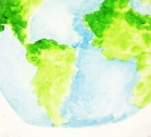 Wonderful Planet Earth WaterColor Sticker