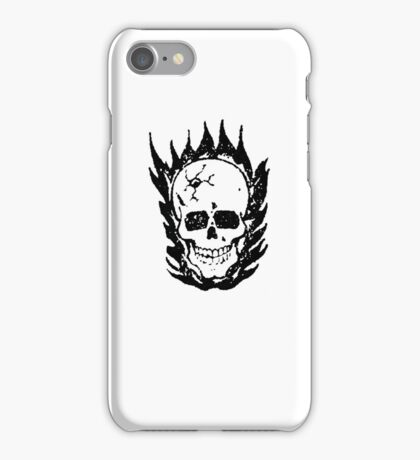 Cracked and Blazing Skull iPhone Case/Skin