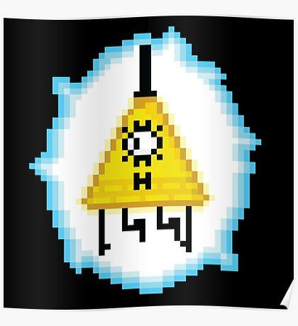 Bill Cipher (8-bit) Poster