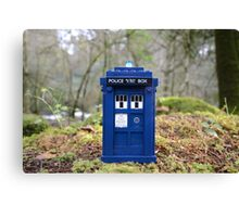 Travel's With The Tardis Canvas Print